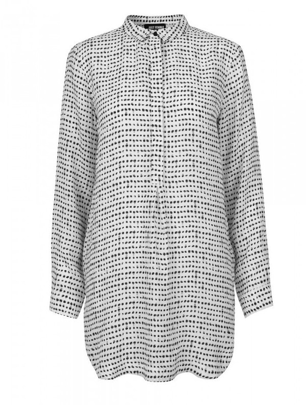 "Just Female ""Dorothy"" Printed Cupro Shirt Dress"