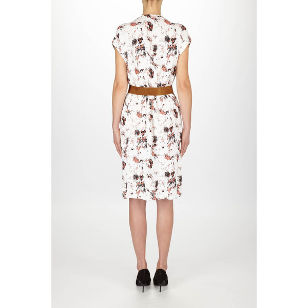 "Just Female ""New Marble"" Short Sleeve Printed Dress"