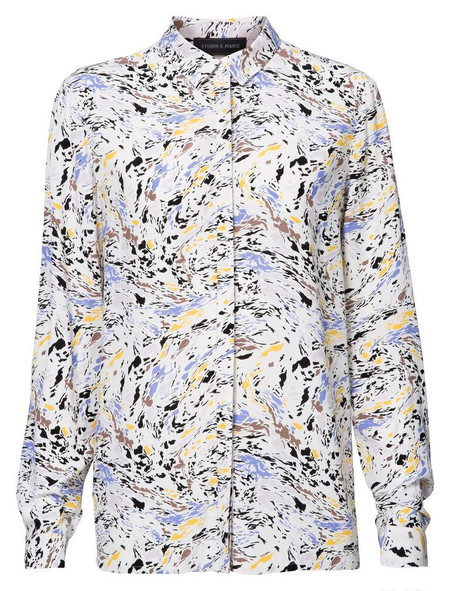 "Storm + Marie Storm and Marie ""Oil"" Long Sleeve Printed Shirt"
