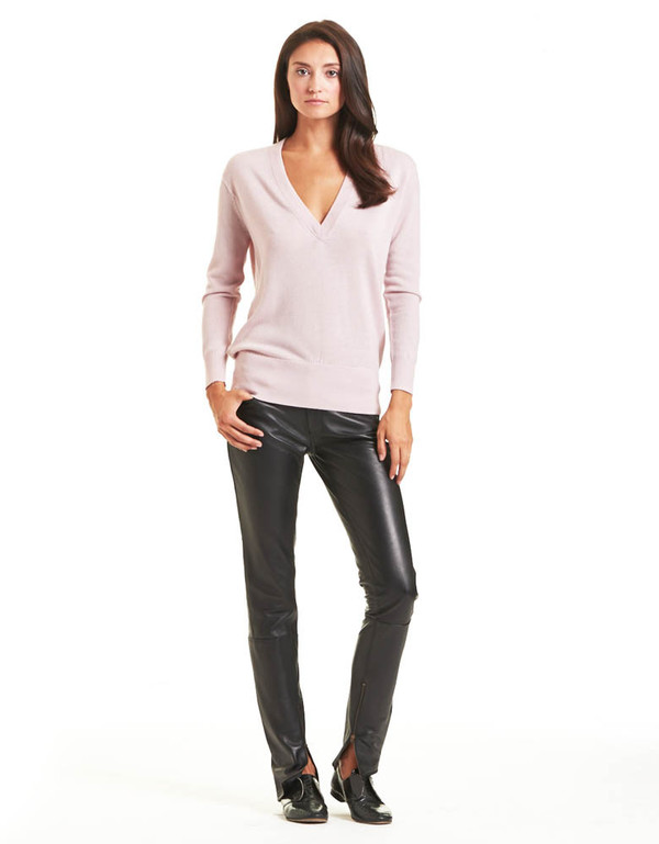 TOME PINK V-NECK SWEATER