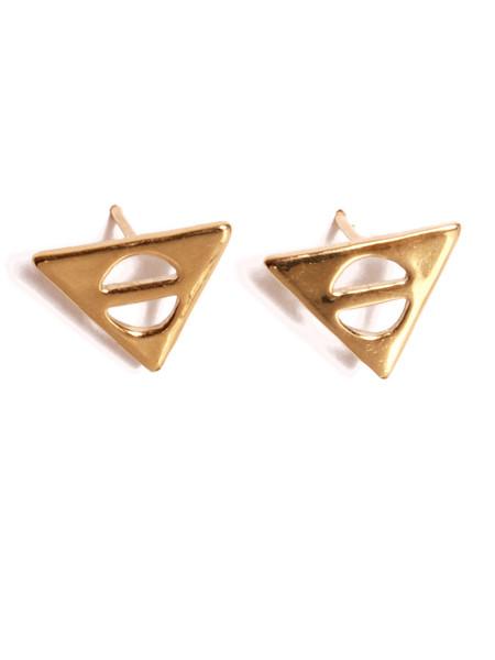 ALYNNE LAVIGNE - Triangle Bar Earrings