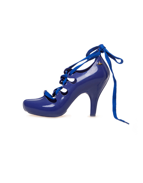 VIVIENNE WESTWOOD MELISSA BLUE LACE UP PUMP
