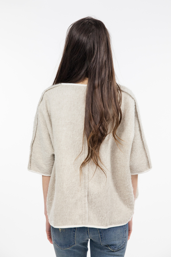 Objects Without Meaning Pullover Poncho - Oatmeal