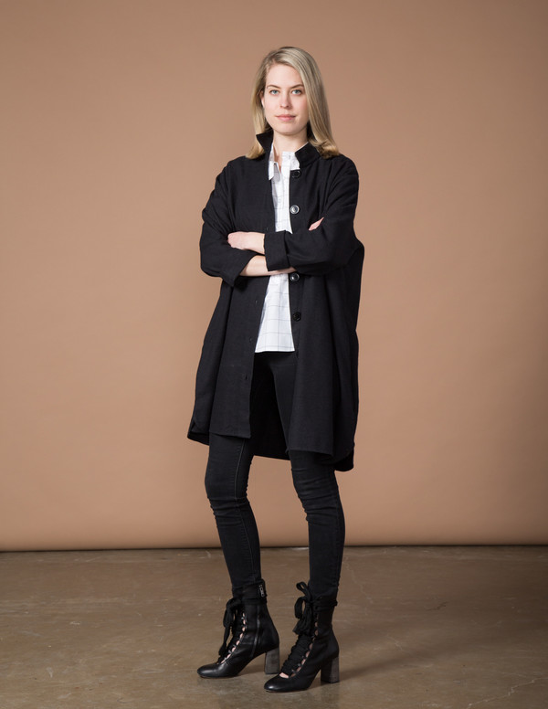 SBJ Austin Stacey Dress - Black Japanese Woven