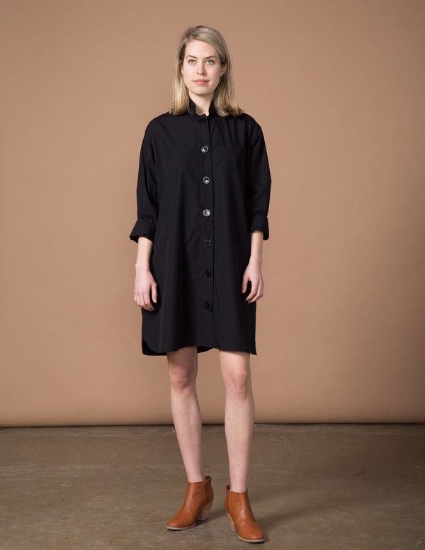 SBJ Austin Stacey Dress - Black Poplin