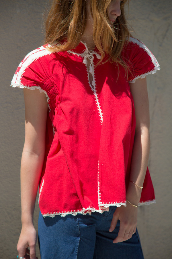 carolina k oxaca hand embroidered blouse