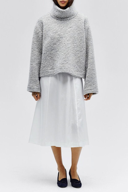 Horses Atelier Cropped Turtleneck | Grey