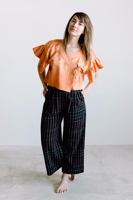 Arcana Heirophant Kimono Blouse // Orange