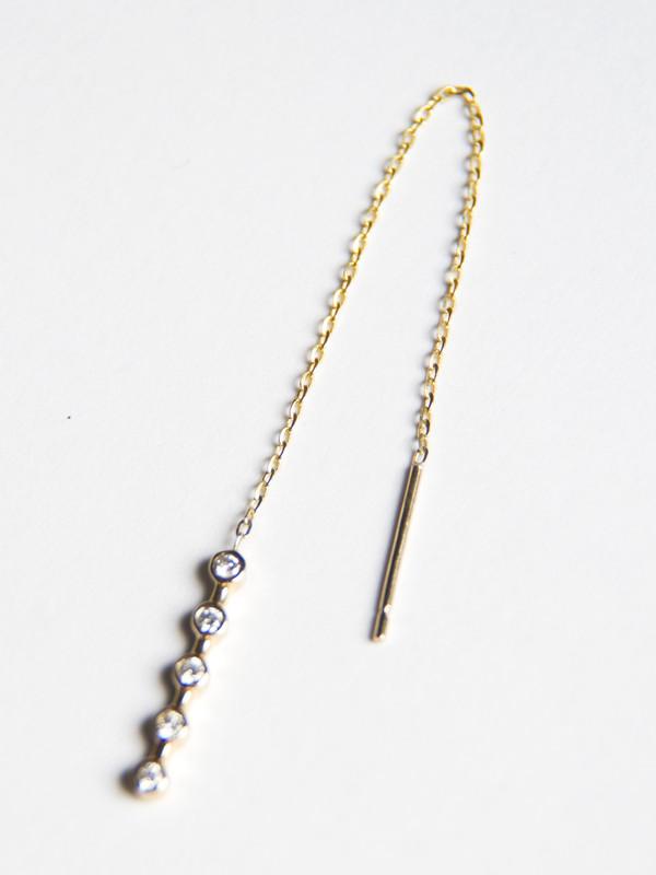 Vale Lunette Stick Threader Earring