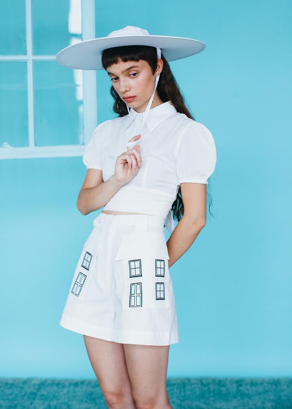 Samantha Pleet Ghost Blouse - Ivory