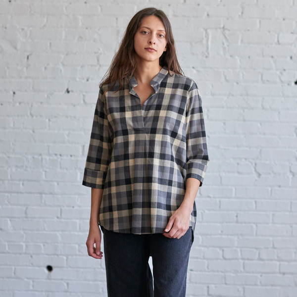 Language of the Birds Nehru Tunic Plaid