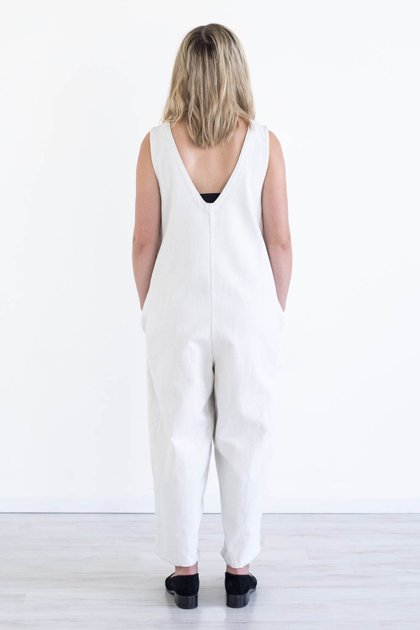 REIFhaus Lou Jumpsuit in White Denim