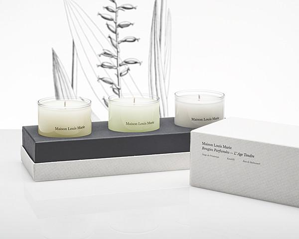 Calder Blake Maison Louis Marie L'Age Tendre 3 Candle Gift Set