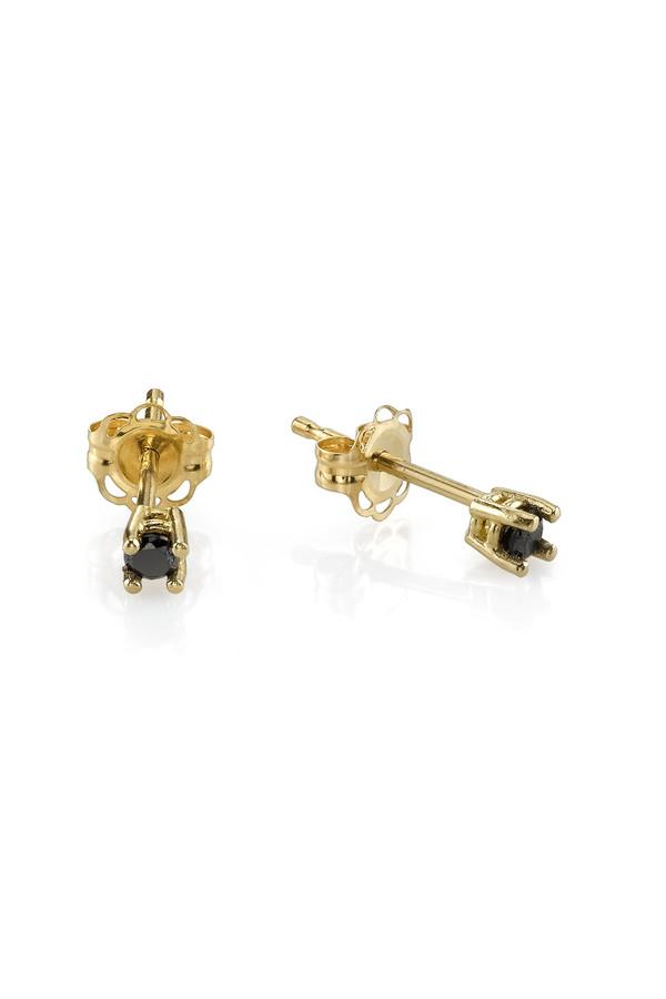 Gabriela Artigas 14K Prong Black Diamond Earrings (Pair)