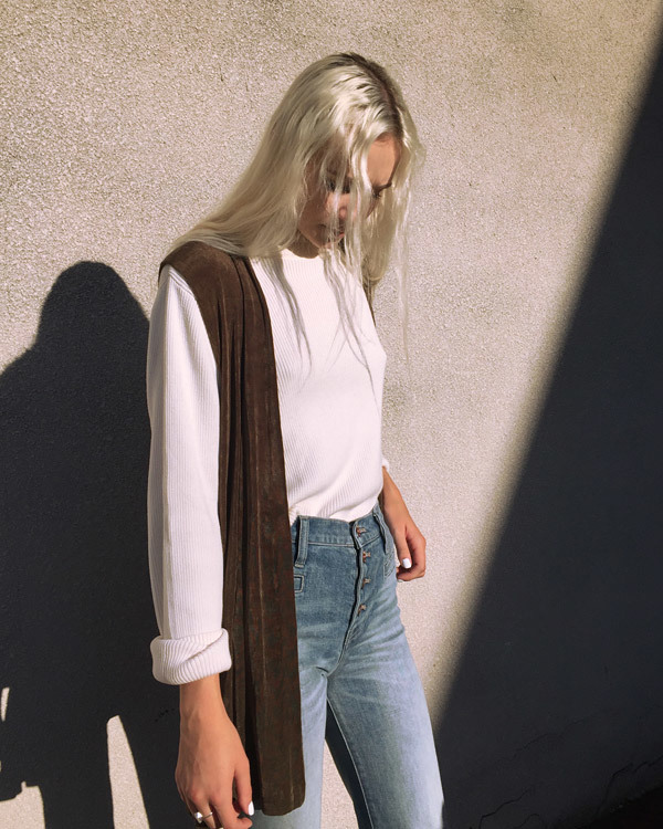 Vintage Olive Open Vest