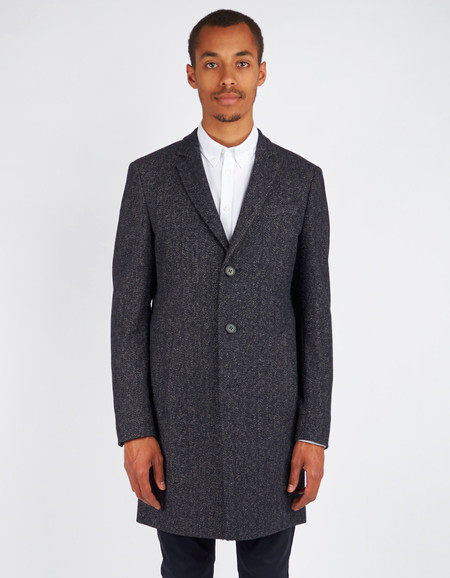 Men's Minimum Black Gleason Coat Dark Navy
