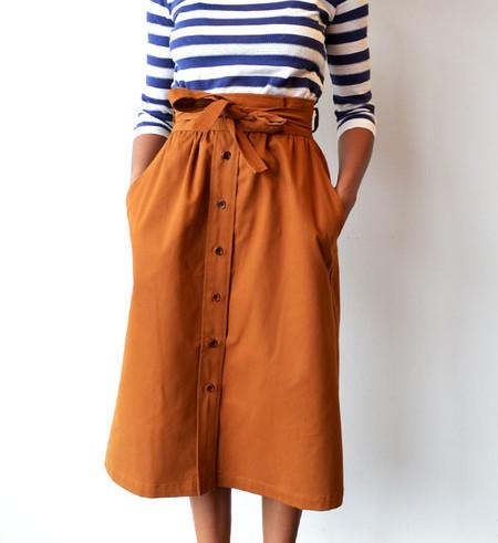 No.6 Caramel Parson Skirt