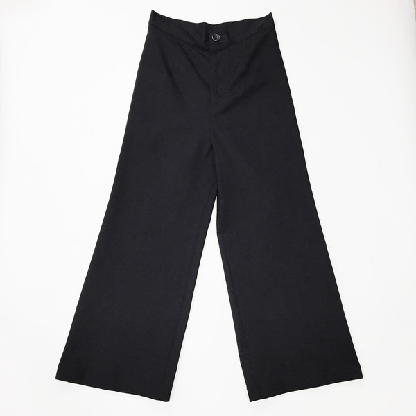 Laurs Kemp Black Wide Leg Crop Pant