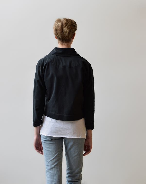 Hackwith Design House Cropped Denim Jacket
