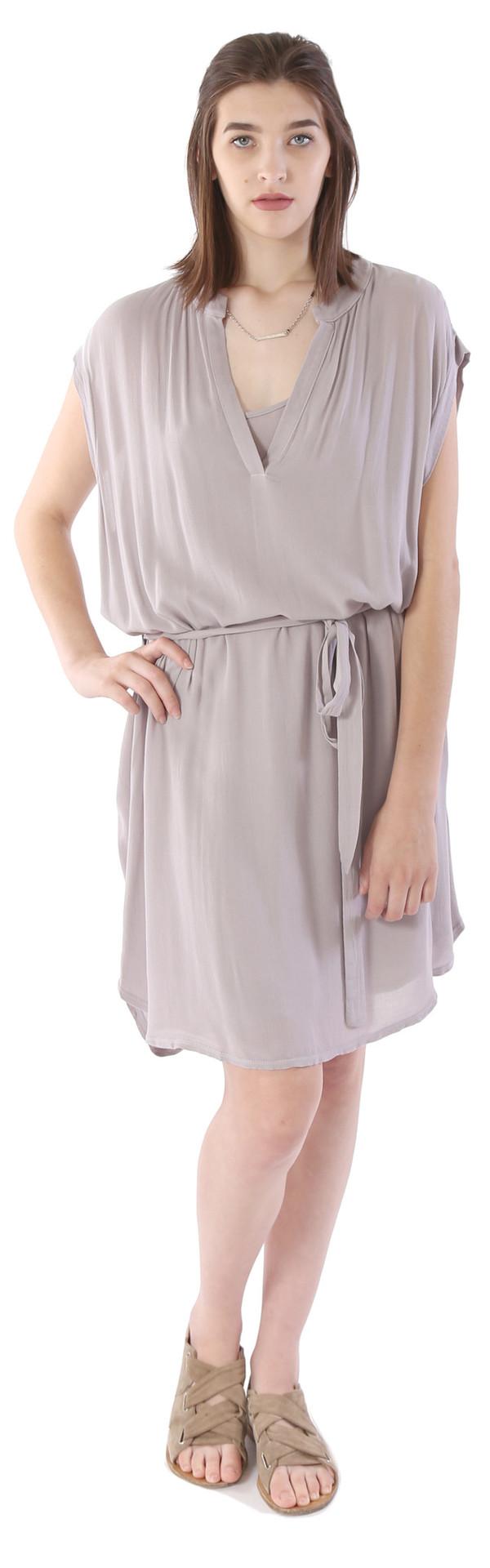 Lanston Sleeveless Dress in Stone