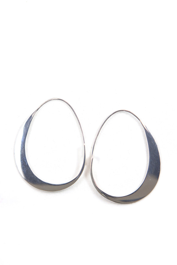 Emily Triplett Big moon earrings in silver