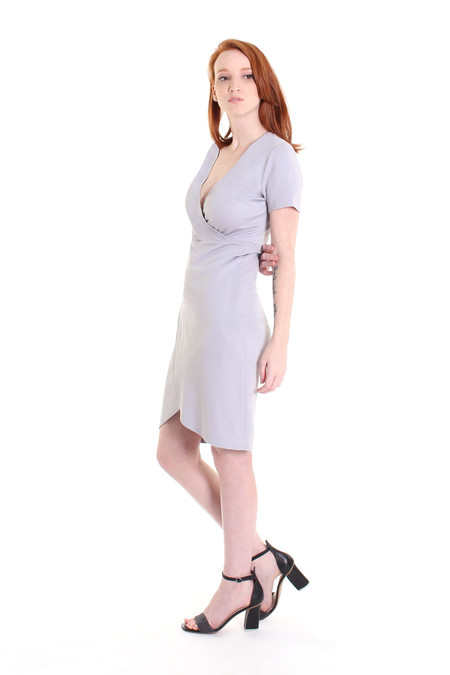 Obakki Corbett dress in soft grey