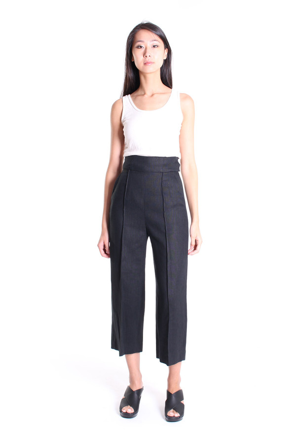 No.6 Store Dietrich cropped pant in black