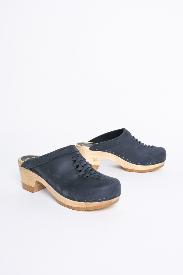 No.6 Store Clogs Heidi woven clog in navy