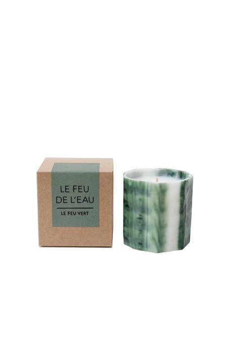 Le Feu De L'Eau Le feu candle in vert
