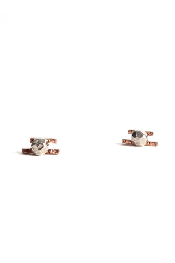 Emily Triplett Lux earrings in rose gold/silver