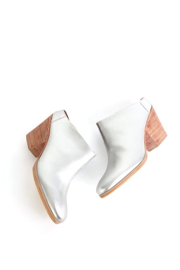 Rachel Comey Mars mule in silver kidskin