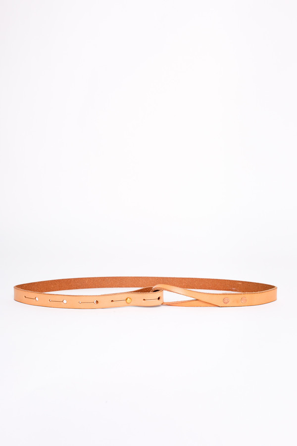 Map of Days Skinny loop belt in natural