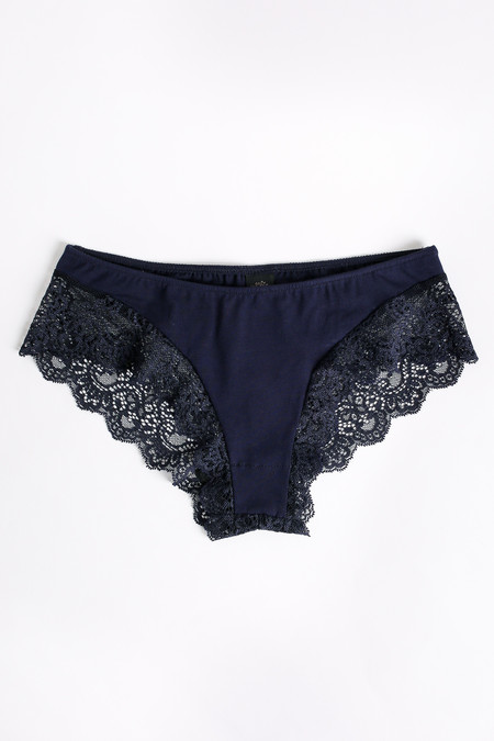 Only Hearts So fine hipster with lace back in navy