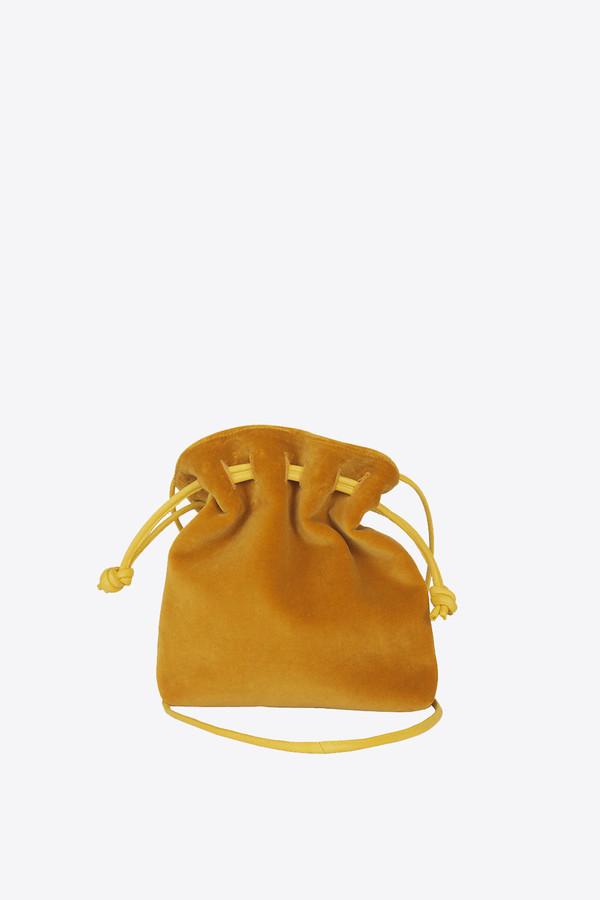 Clare V. Petit henri handbag in goldenrod velvet