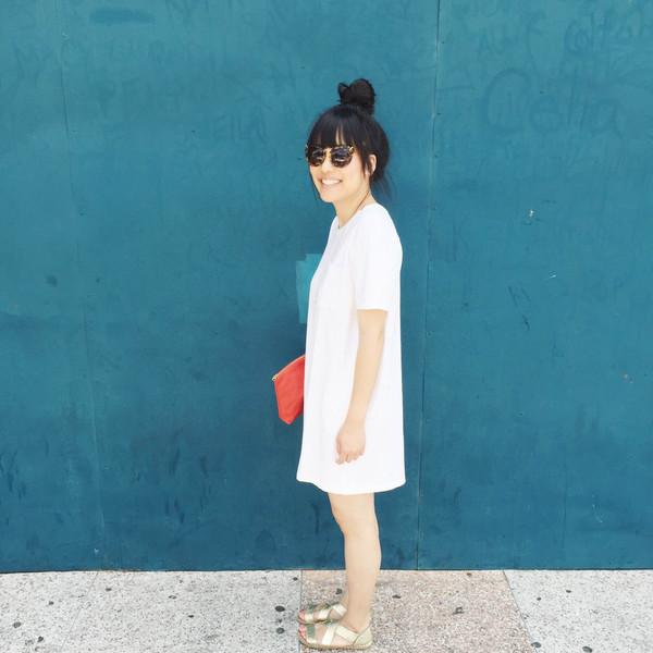 Skargorn #69 Tee Dress, Milk Wash