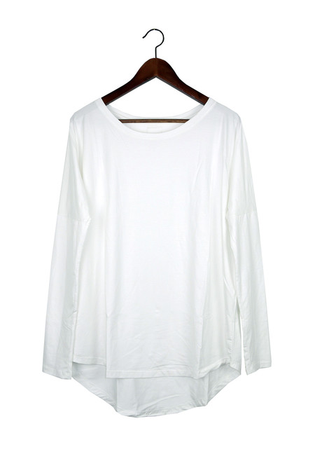 Rue Stiic Long Sleeve Top, White