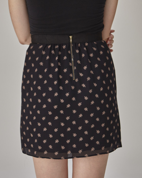 Caron Callahan Maruki Skirt in Navy