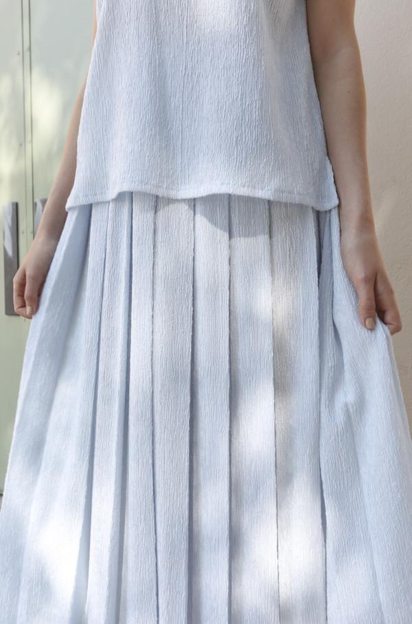 SVILU Pleated Skirt in Mist