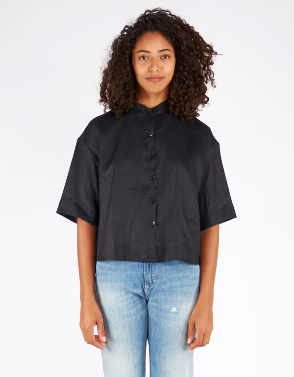 Ursa Minor Tilly Linen Blouse Black