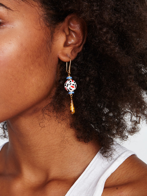 RAMOS YVES WHITE EARRINGS