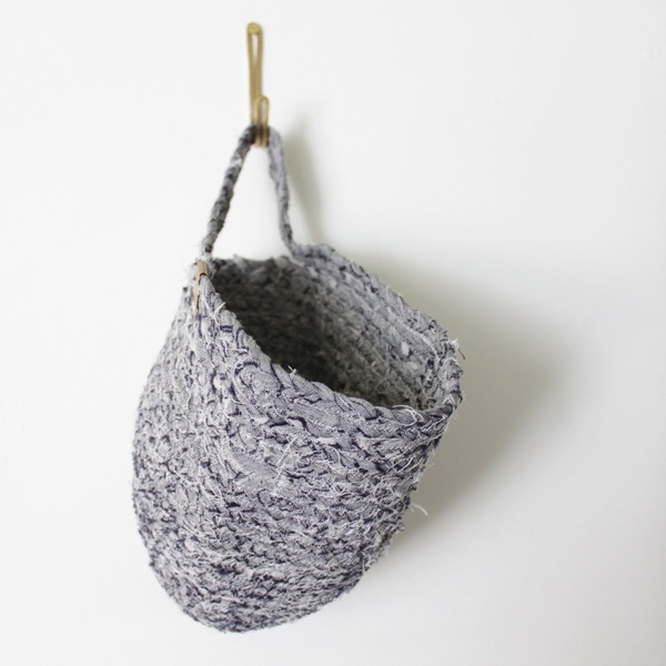 Susan Conner New York Braided Remnant Basket