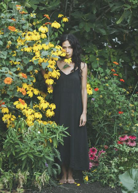 Lacausa - Alma Slip Dress in Tar