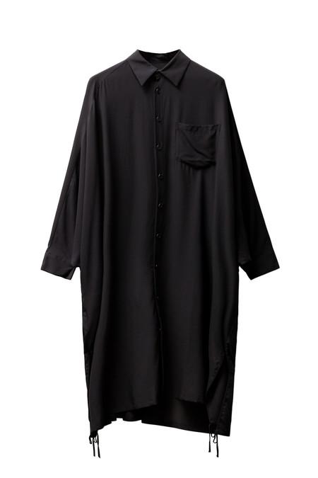 Ys by Yohji Yamamoto Womens Dolman Sleeve Shirtdress