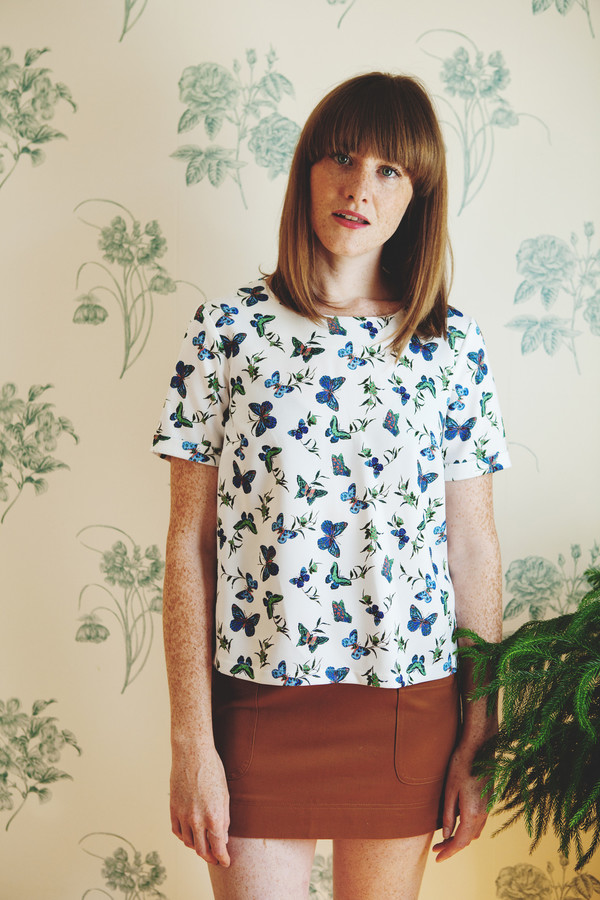 Darling Bluebell Butterfly Top