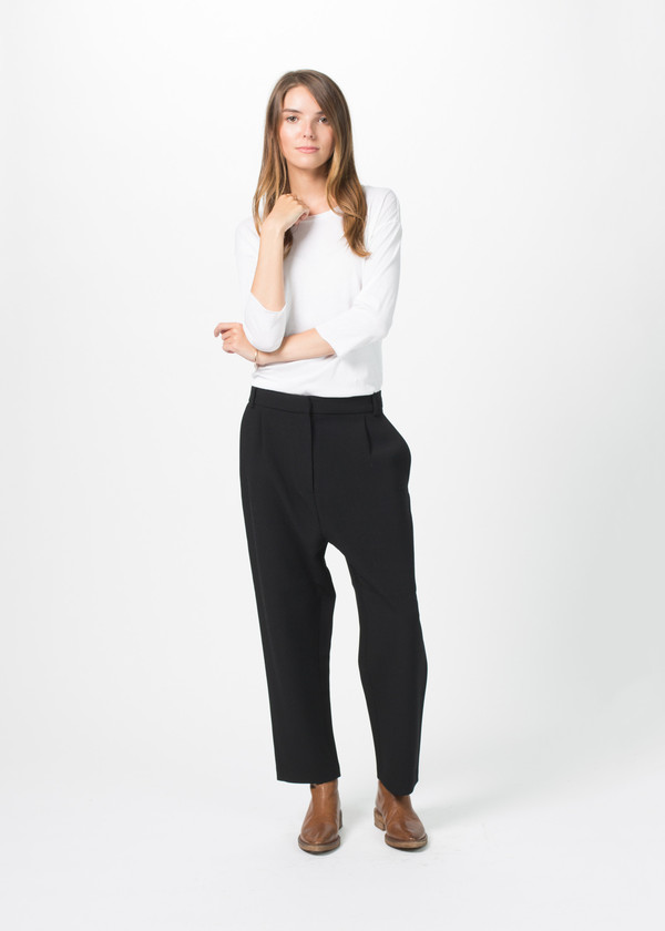 Sara Lanzi Cropped Stretch Crepe Pant