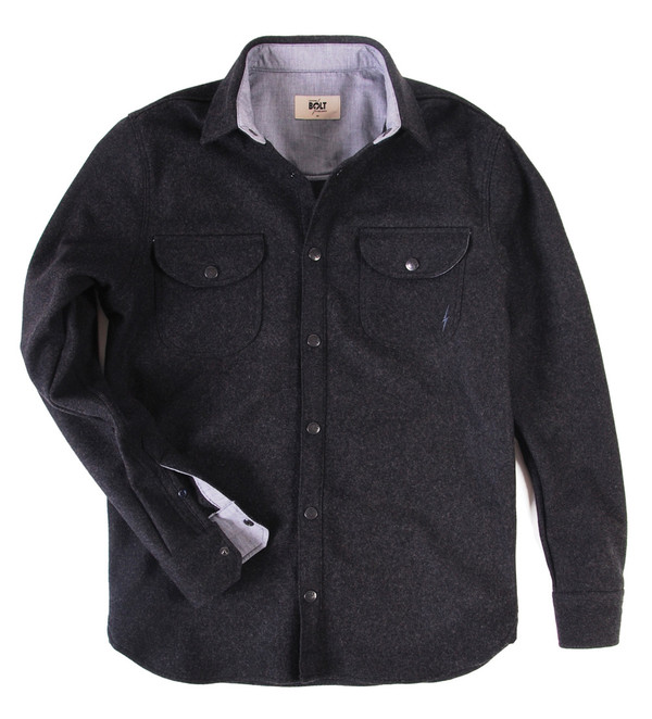 LIGHTNING BOLT - WOOL MELTON WORKSHIRT