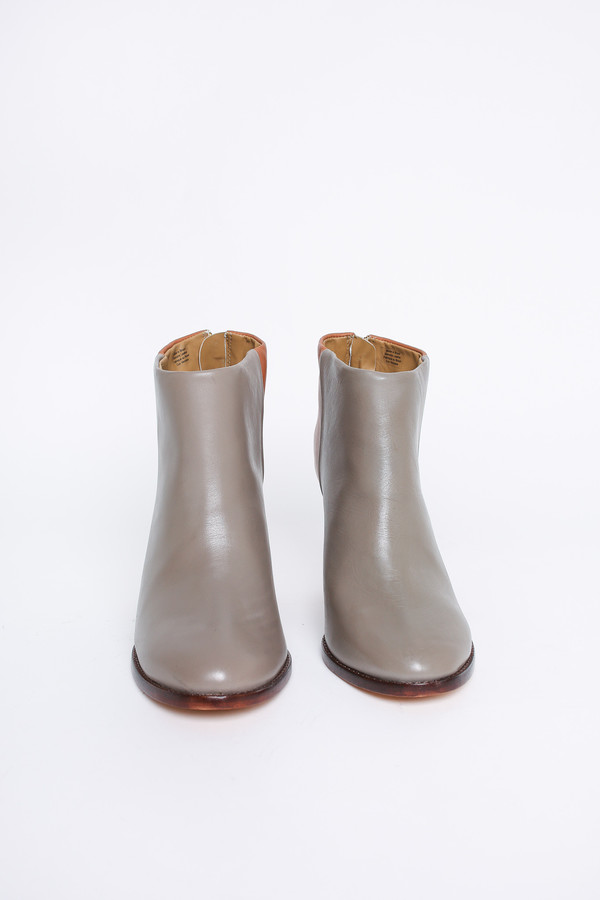 Nina Payne Halsey hole punch boot in grey/cognac