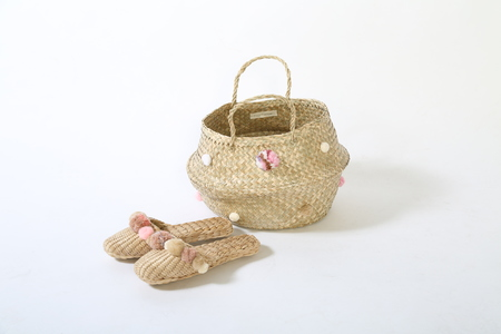 Folk Fortune POM POM basket