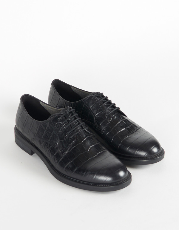 Vagabond Amina Croc Oxford Black
