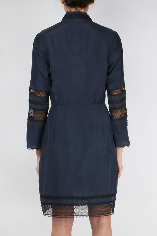 Derek Lam 10 Crosby L/S High Neck Dress